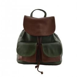 Lederrucksack für Damen  -...