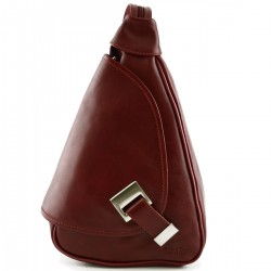 Woman Leather Backpack  -...