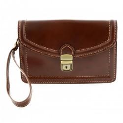 Man Leather Bag, Buckle...