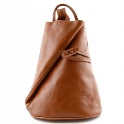 Damen Echtes Leder Rucksack...