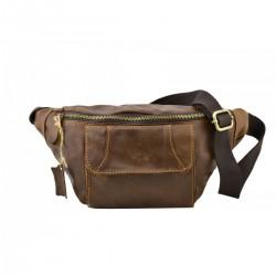 Genuine Leather Man Bum Bag...
