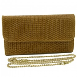 Leather Clutch with Braided...