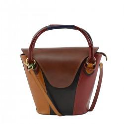 Genuine Leather Multicolor...