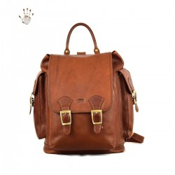 Women Leather Backpack  -...