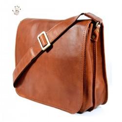 Leather Shoulder Bag Men  -...