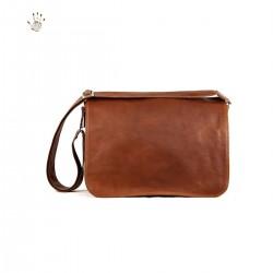 Men Shoulder Leather Bag  -...