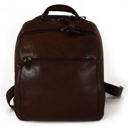 Man Leather Backpack  -...