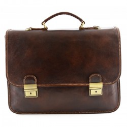 Leather Business Bag  -...